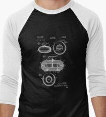 Curling Stone Patent Print, Curling Stone Patent, Sports Art, Sports Wall Art, Patent Poster, Patent Print, Blueprint Men's Baseball ¾ T-Shirt
