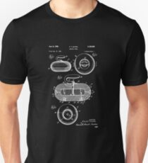 Curling Stone Patent Print, Curling Stone Patent, Sports Art, Sports Wall Art, Patent Poster, Patent Print, Blueprint Unisex T-Shirt