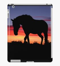 Humpy Horse Silhouette Sunset  iPad Case/Skin