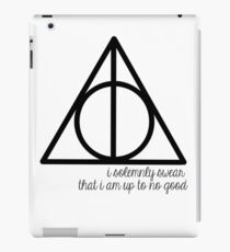 I Solemnly Swear that I am Up to No Good iPad Case/Skin