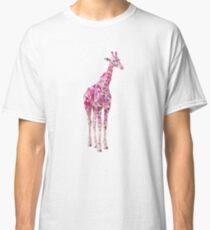 Modern pink giraffe Classic T-Shirt