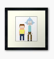 Pixel Rick (& Morty) Framed Print