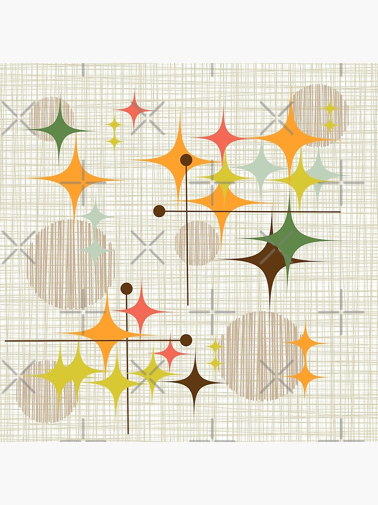 Eames Era Starbursts and Globes 3 (bkgrnd) by Makanahele