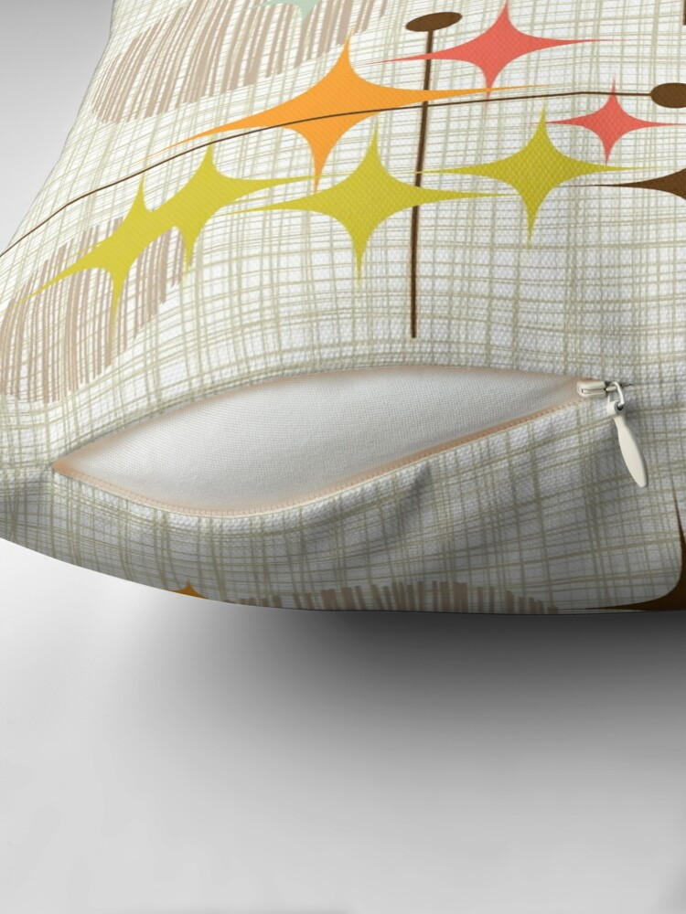 Alternate view of Eames Era Starbursts and Globes 3 (bkgrnd) Throw Pillow
