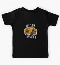 Distressed Construction Dump Truck Kids Tee