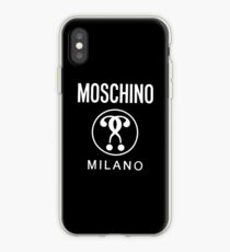 fake white moschino iPhone Case