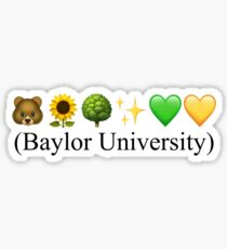 Emoji Baylor Sticker