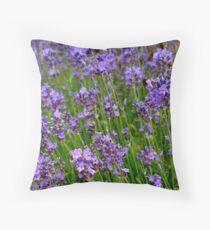 English Lavender Throw Pillow