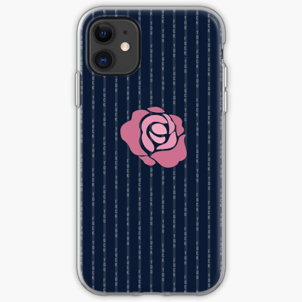 McGregor Mayweather LA Presser - Pink Rose Fuck You Pinstripe iPhone Soft Case