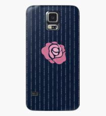 McGregor Mayweather LA Presser - Pink Rose Fuck You Pinstripe Case/Skin for Samsung Galaxy