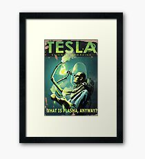 TESLA what is plasma, anyway? Fallout 4 poster Framed Print