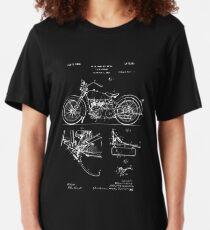 Harley Davidson Modell JD Patent Poster, Motorrad Print, Harley Davidson Poster, Motorrad Kunst, Blueprint Slim Fit T-Shirt