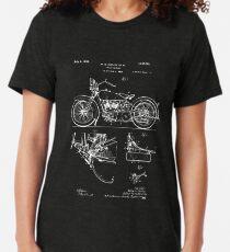 Harley Davidson Model JD Patent Poster, Motorcycle Print, Harley Davidson Poster, Motorcycle Art, Blueprint Tri-blend T-Shirt