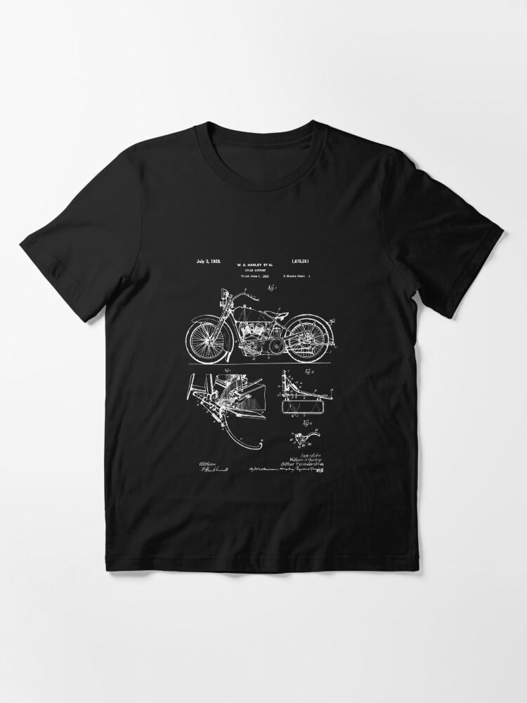 Alternate view of Harley Davidson Model JD Patent Poster, Motorcycle Print, Harley Davidson Poster, Motorcycle Art, Blueprint Essential T-Shirt