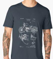 Harley Davidson Model JD Patent Poster, Motorcycle Print, Harley Davidson Poster, Motorcycle Art, Blueprint Men's Premium T-Shirt