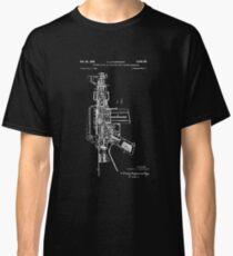 Patent Print, ar-15 Gun Poster, Ar-15 Gun Patent, Ar-15 Gun Pistol Print, AR-15 Gun Pistol Art, AR-15 Gun Decor, AR-15 Gun, Blueprint Classic T-Shirt