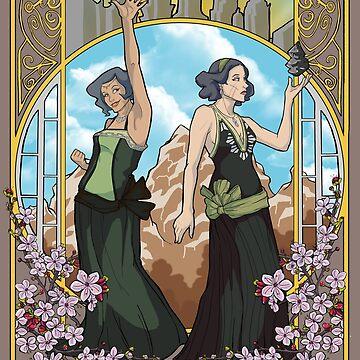 Beifong Sisters by elizabethamira