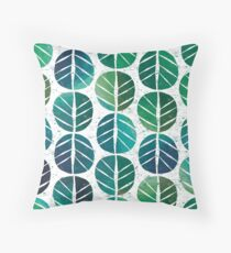 i love Green Leaf Throw Pillow