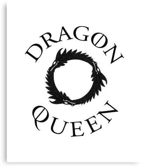 Dragon Queen, circular motif. by MazzaLuzza