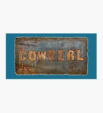 Cowgirl Southwest Western Photographic Print
