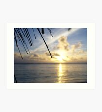 Rarotonga sunset Art Print