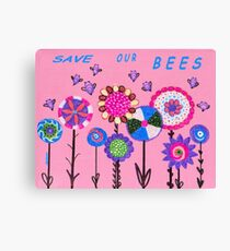 Statement/TEXT: SAVE OUR BEES Canvas Print