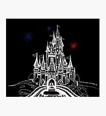 Mouse in Love at Midnight Photographic Print