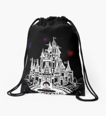 Mouse in Love at Midnight Drawstring Bag