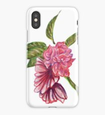 Pink flower illustration iPhone Case/Skin