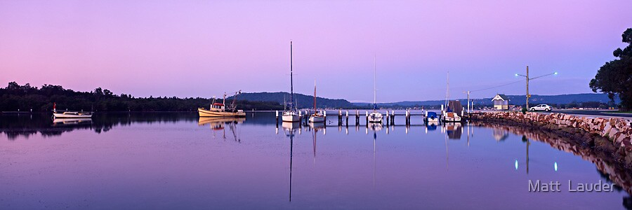 Veterans Hall Wharf, Central Coast by Matt  Lauder