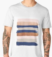 Painted stripes abstract metallic minimalist striped art gold bronze silver Men's Premium T-Shirt