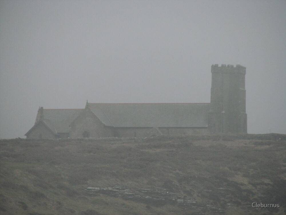St. Materiana in the Fog by Cleburnus