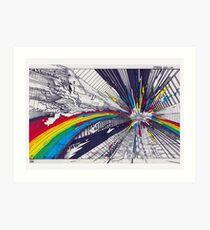 WASHHH!!! Color explosion Art Print
