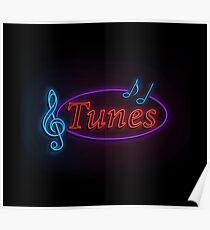 Neon tunes. Poster