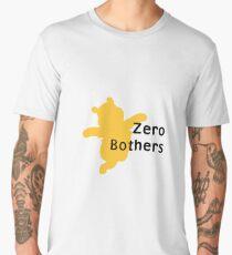 Zero Bothers   Winnie the Pooh Men's Premium T-Shirt