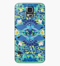Blue Peacock Love Case/Skin for Samsung Galaxy