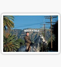 Kim riding horse Sticker
