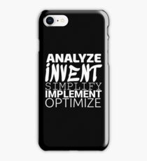Anything working process slogan. iPhone Case/Skin