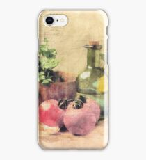 Kitchen Still Life, Kitchen, Dining Room, Tomatoes, Olive Oil, Bell Pepper, Gift for Chef iPhone Case/Skin