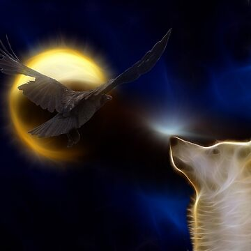 Spirits of Wolf and Crow by LuciaS