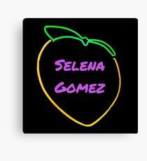 Selena Gomez Peach Canvas Print