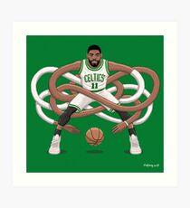 Gnarly Kyrie Celtics Art Print