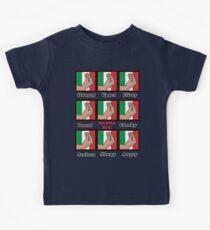Italian gestures emotions chart Kids Tee