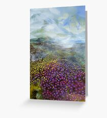 Mountain Iceplant original painting by Gail Weissman Greeting Card