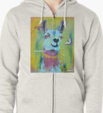 Llama for Hannah Zipped Hoodie