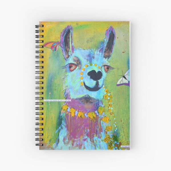 Llama for Hannah Spiral Notebook