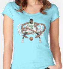 Gnarly Kyrie Celtics Women's Fitted Scoop T-Shirt