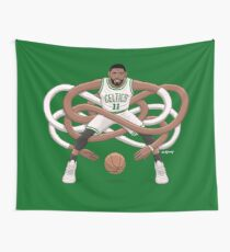 Gnarly Kyrie Celtics Wall Tapestry