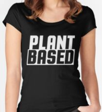 Plant based Women's Fitted Scoop T-Shirt
