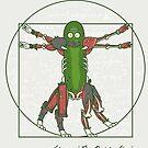 Vitruvian Pickle Rick by CoDdesigns